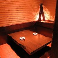 テーブル・個室・掘りごたつと様々なお席をご用意♪