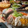 餃子ちゃんぽん鍋食べ放題コース。〆はちゃんぽん麺で♪