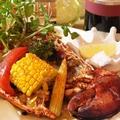 料理メニュー写真オマール海老と旬菜のオーブン焼