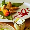 料理メニュー写真季節野菜とほくほくポテトのトライアングルサモサ☆