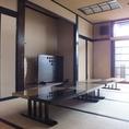 【桜】左側の部屋。最大36名様までの宴会可能。隣と合わせて最大80名様まで