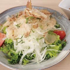 たっぷり玉ねぎと新鮮野菜の和風サラダ