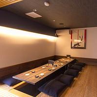 和モダンな個室空間で特別なひとときをお過ごしください