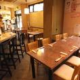 2011年8月にリニューアルした店内は、JAZZが流れるオシャレで落ち着いた空間。