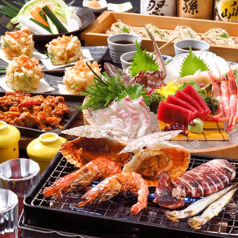 ■【基本の浜焼きコース 4000円(税込)】≪料理7品・2時間飲み放題付き≫