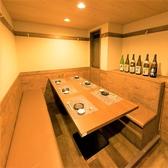 3名~6名様用テーブル席お客様の人数構成・用途にあわせてその日一番適した個室席をご提供致します。
