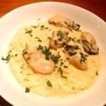 料理メニュー写真牡蠣のクリームリゾット