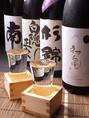 静岡の地酒も多数ご用意!地酒にぴったりのお料理をご用意いたします!