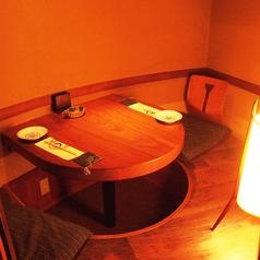 デートや記念日におすすめの完全個室です。2人だけの時間を楽しめます。
