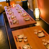 【扉付完全個室】17名様~24名様。和スタイリッシュな個室席がお客様をおもてなしします。中規模宴会に最適な広々個室席は、お勤め先でのご宴会、打上げに最適です。お気軽にお問い合わせください。