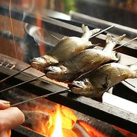 厳選した食材を炭火で焼き上げます!!