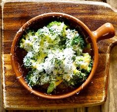 道産ブロッコリーのオーブン焼き~どっさりパルメジャーノのせ~