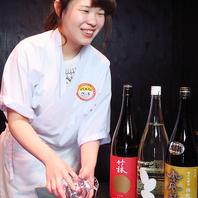 岡山の地酒や全国の銘酒を取りそろえています。