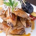 料理メニュー写真手羽先の唐揚げ 皮目カリカリ焼き/Chicken Wing