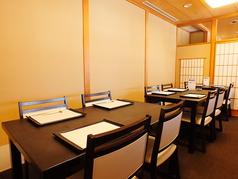 小上りの個室は接待や法事の際等にお勧め。ご利用は8名様~12名様となり、お席の結合も可能です。