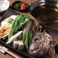 料理メニュー写真鯛カブトのポカポカ鍋