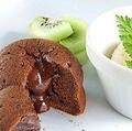 料理メニュー写真フォンダンショコラとバニラアイス