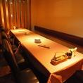 約10名様でお使い頂ける、テーブル個室。限定1部屋のため、ご予約はお早目に!