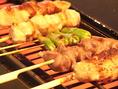 各130円~(税抜)柔らかく、ジュージューな美味の地鶏です!