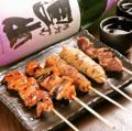 料理メニュー写真焼鳥5点盛り合わせ(塩・たれ)
