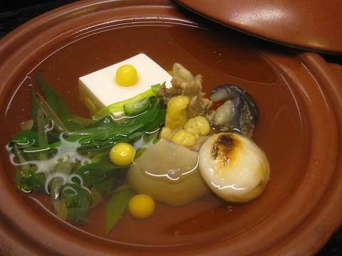 京都の冬の名物、すっぽん鍋とかぶら蒸し