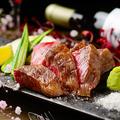 料理メニュー写真黒毛和牛ステーキ~トリュフ塩と山葵で~