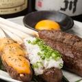 料理メニュー写真牛タン手こねつくね串(1本)