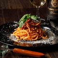 料理メニュー写真茄子と粗挽肉のラグーパスタ