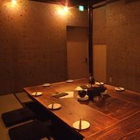 12名様前後の完全個室完備