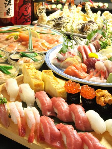 24時間営業中★極上マグロを始め、市場直送の旬鮮魚を思う存分、堪能下さい!!