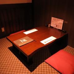 【デート・記念日などに】最大4名まで収容可能な完全個室。20名個室と合体する事も可能です。