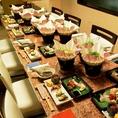 最大30名様まで、人数に合わせてテーブルの移動が可能。