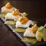 四季折々の食材を用いた創作和食のお料理。
