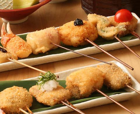 串揚げと炊きたての釜飯がメインのお店☆ 3000円~各種コース御座います♪