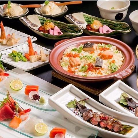 北海道産の新鮮な素材を旬に応じて一つ一つ丁寧に調理させていただいております。