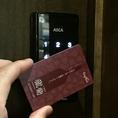 カードキーをタッチパネルにかざすと認証完了★