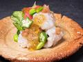 料理メニュー写真鱧と胡瓜とりゅうきゅうの酢の物