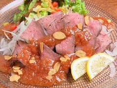 アンガス牛のローストビーフ トリュフのソース