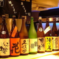 希少な日本酒・焼酎が勢ぞろい。