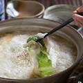 料理メニュー写真豚しゃぶと白菜のとろろ鍋