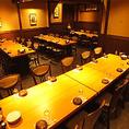 大人数宴会にオススメ♪30名様から最大40名様までご利用になれる大型宴会個室♪テーブル席なので移動もスムーズに行えます♪会社宴会や友人との飲み会にぜひご利用ください♪人形町で本格的な焼き鳥を味わいたい方にオススメ♪日本酒とご一緒にお楽しみください♪