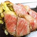 料理メニュー写真黒毛和牛のステーキ ~大根おろしとゆずポン酢で~
