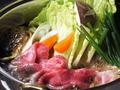 料理メニュー写真最高級A5黒毛和牛のすき焼き【単品】1~2人前