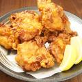 料理メニュー写真名物 鶏のから揚げ 一人前/ハーフ