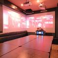 最大100インチ×2画面のデュアルプロジェクタールームが登場!カラオケだけでなくDVDやBlu-rayをLIVEの様な臨場感で楽しめるお部屋です♪