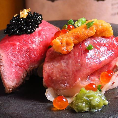 【新栄町駅徒歩5分】贅沢な個室空間で、国産牛を使用した牛肉創作料理をご堪能あれ