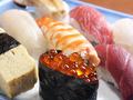 料理メニュー写真上にぎり寿司