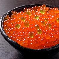 北海道産塩イクラ丼など食事メニューも北海道の美味を☆