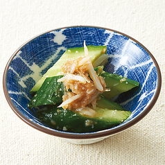 料理メニュー写真キュウリの梅水晶