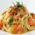 料理メニュー写真ウニとフレッシュトマトのスパゲッテーニ
